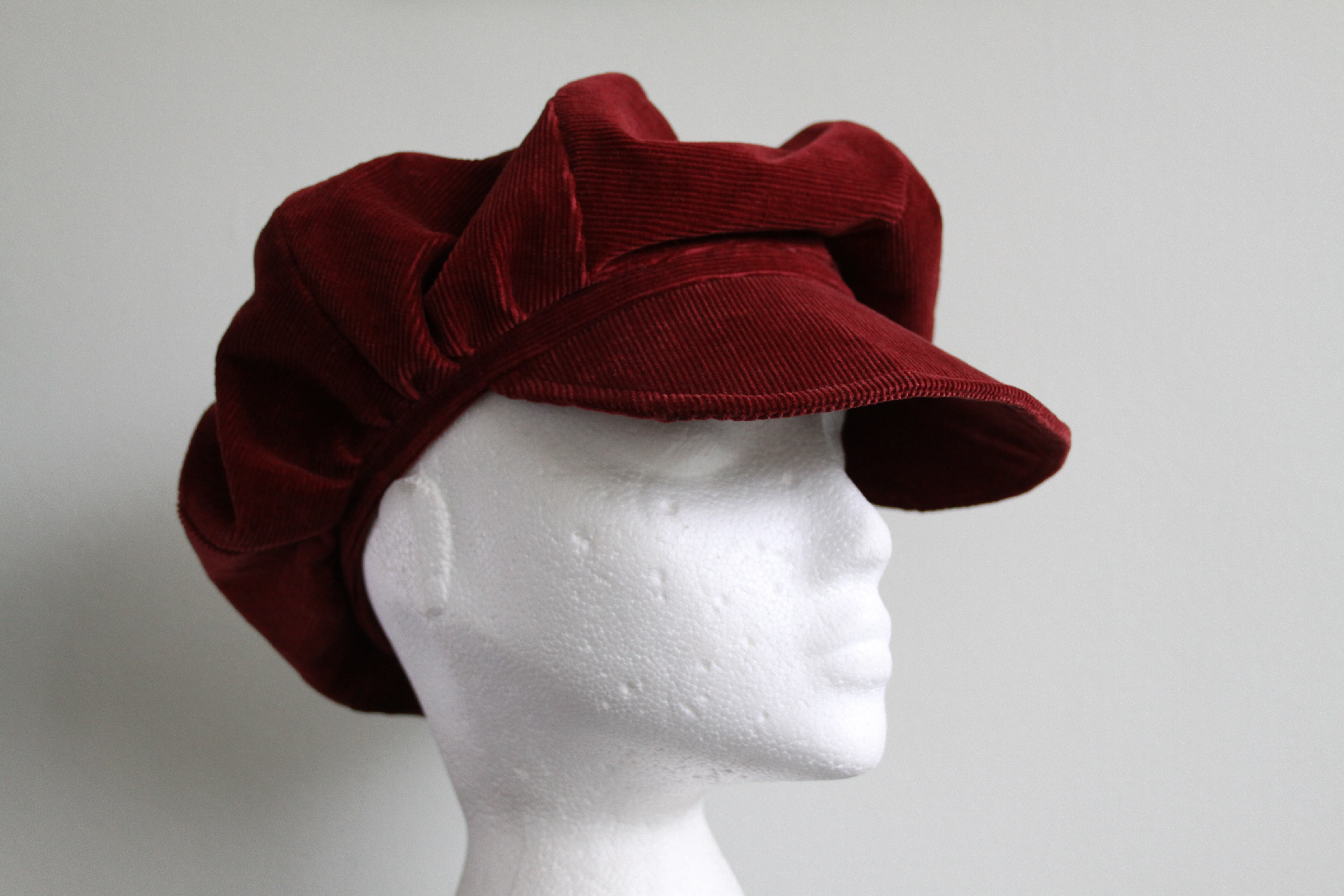 red velvet cap for women